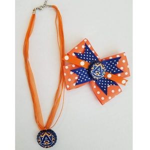 Auburn Bow & Necklace Set